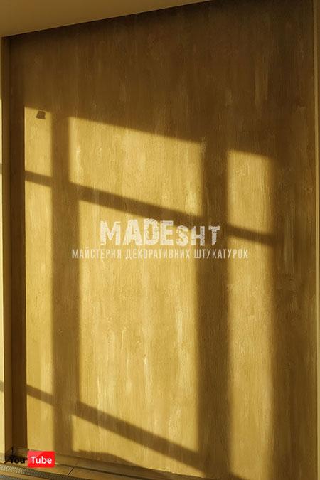 Акцентная стена венецианской штукатуркой Grassello 600