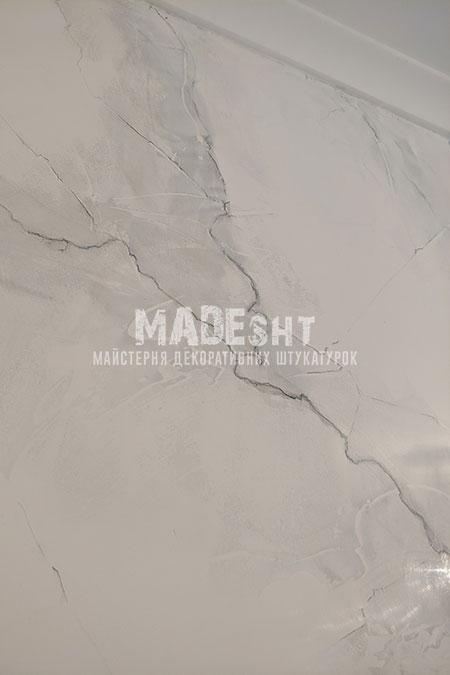 Венецианская штукатурка под белый мрамор