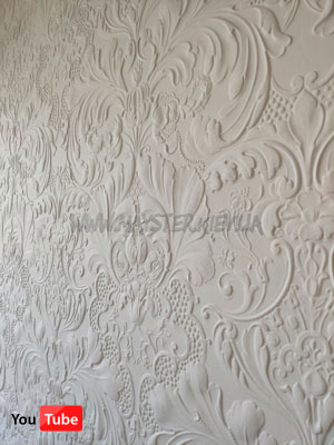 Lincrusta Italian Renaissance RD 1952 и Diana Frieze RD1958 белого цвета